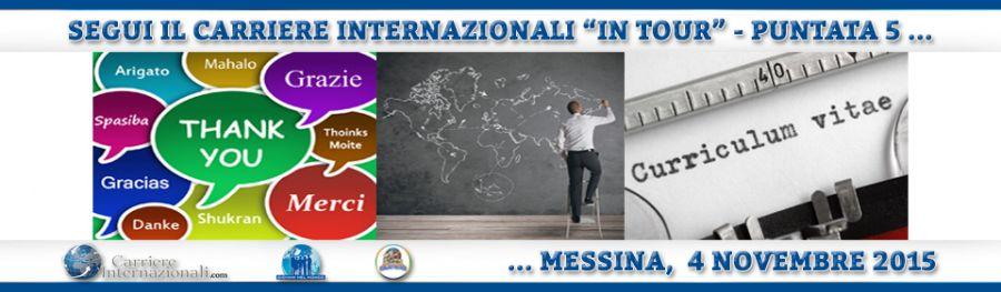 Come si raggiunge una carriera internazionale? Messina, 4 novembre 2015
